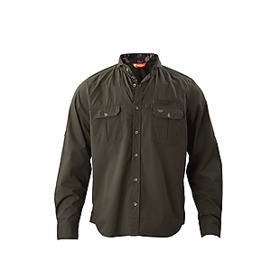 Wildcraft Men Full Sleeve Cotton Shirt - Dark Grey