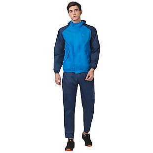 Wildcraft Hypadry Unisex Rain Jacket Suit 2 Tone - Navy