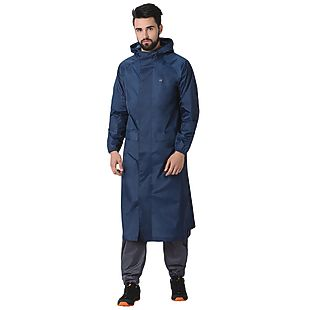 Wildcraft Hypadry Unisex Rain Coat - Navy